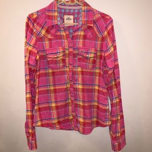 Hollister Western Button Down Shirt Pearl Snaps
